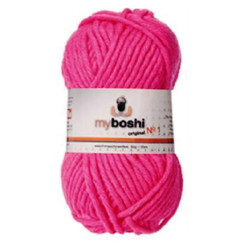 Neon Pink 182 - Wool Balls 50g For DMC Myboshi Beanie Hats